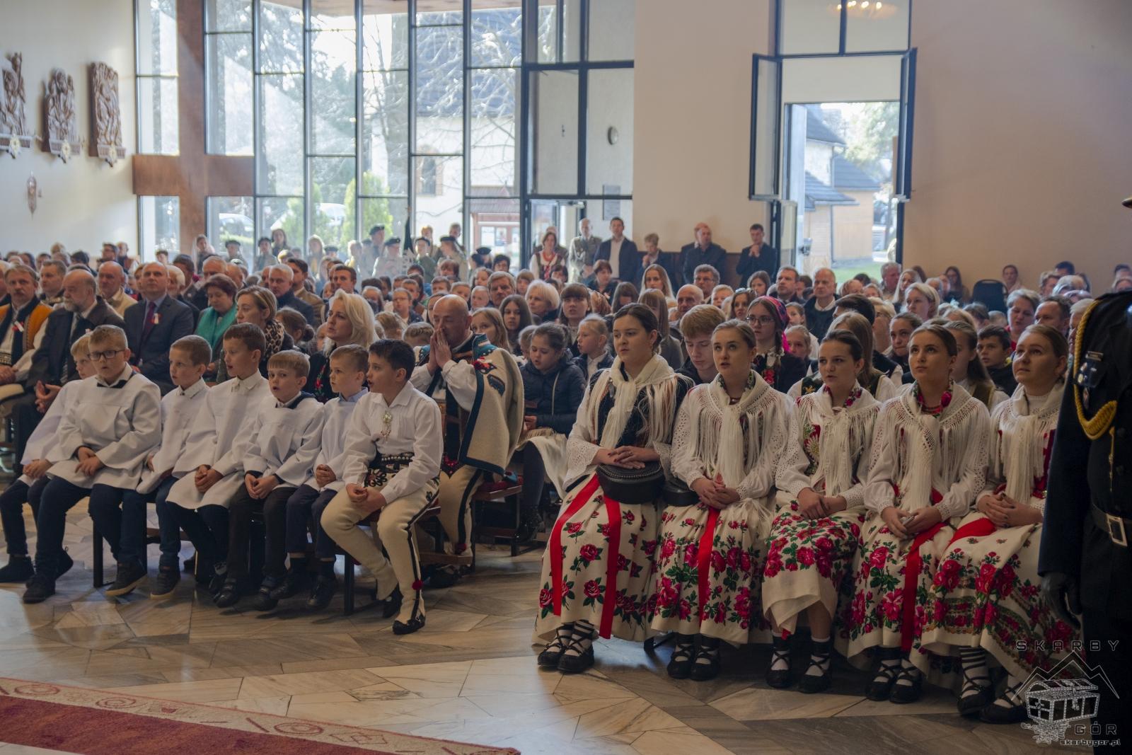 Obchody 100-lecia niepodległości w Bukowinie Tatrzańskiej - Msza Święta