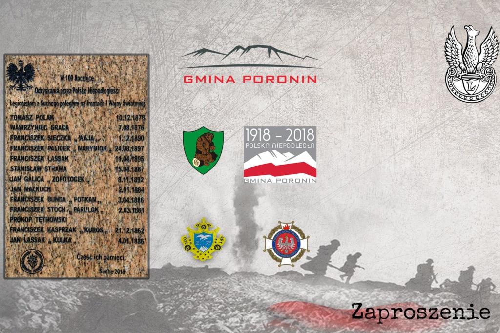 Odsłonięcie obelisku upamiętniającego Legionistów z Suchego zaproszenie