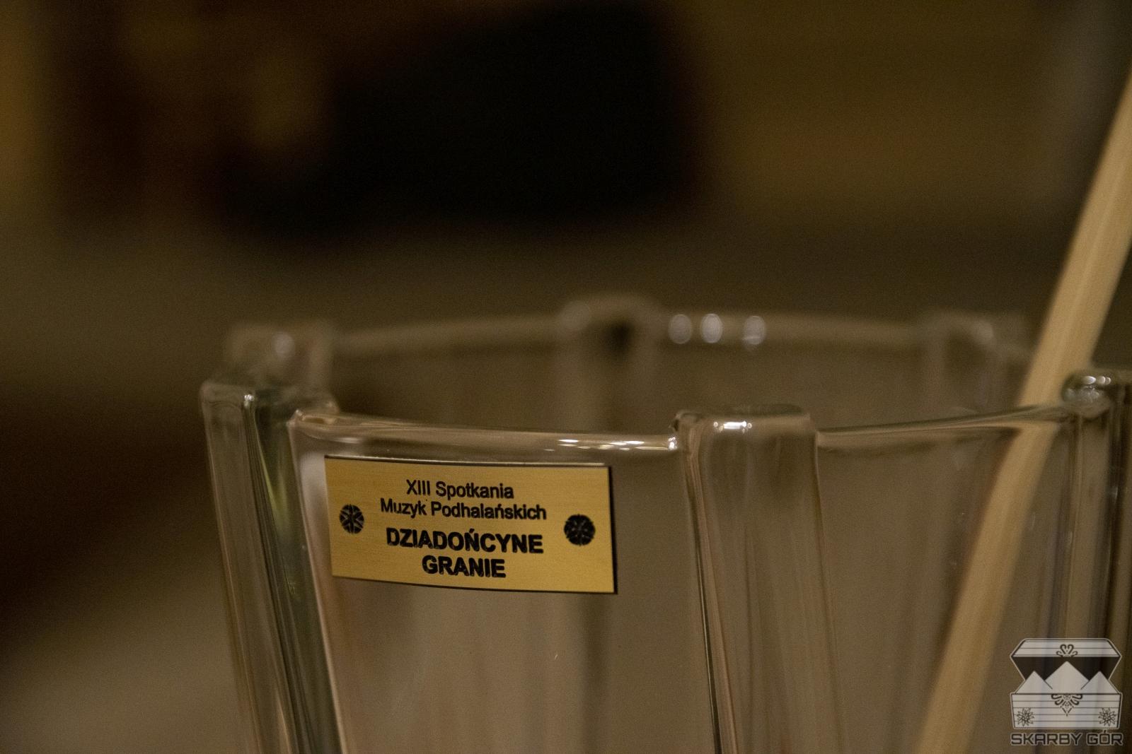 Nagroda w XIII Spotkaniu Muzyk Podhalańskich Dziadońcyne Granie