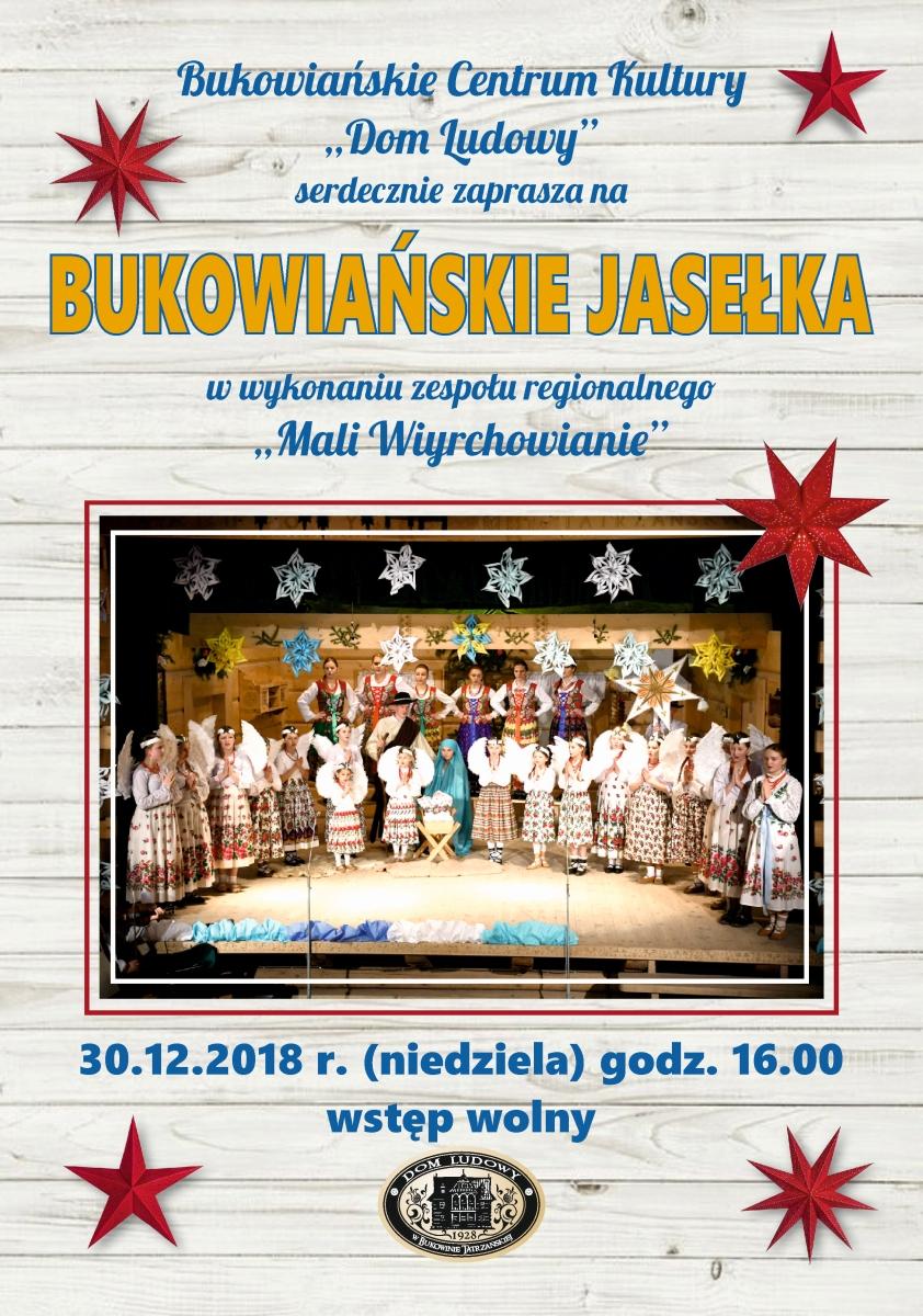 Bukowiańskie Jasełka 2018-12-30 Plakat