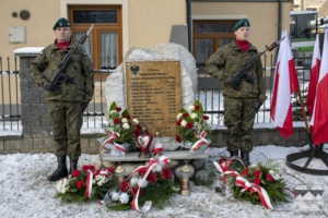 Odsłonięcie obelisku upamiętniającego Legionistów z Suchego