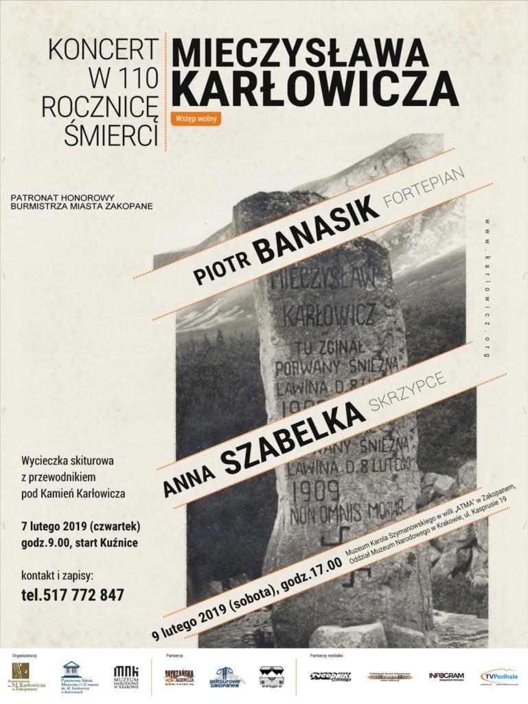 Obchody 110 rocznicy śmierci Mieczysława Karłowicza