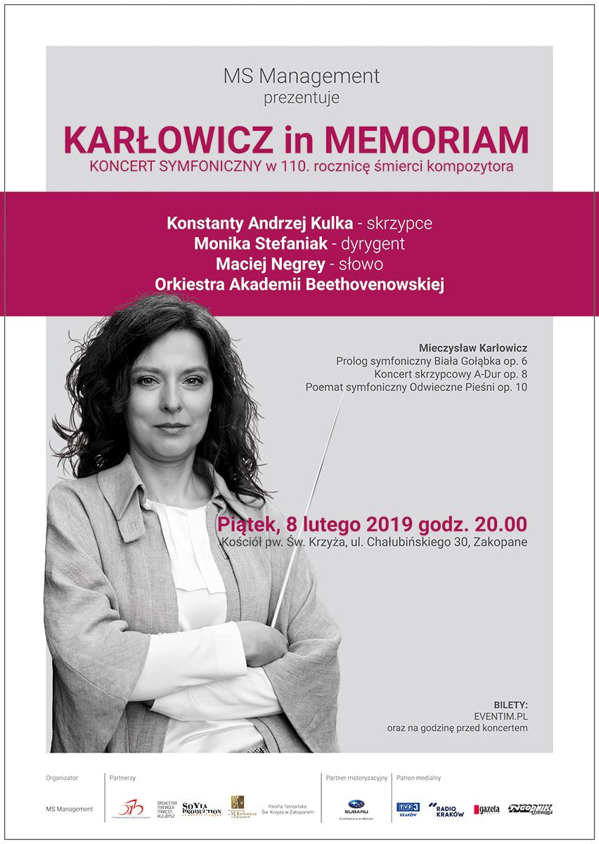 KARŁOWICZ in MEMORIAM Monika Stefaniak
