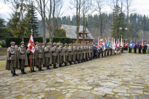 101 rocznica odzyskania niepodległości - Poronin - symboliczna mogiła Wojciecha Doruli