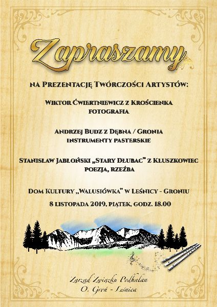 Prezentacja Twórczości Artystów w Leśnicy – Groniu