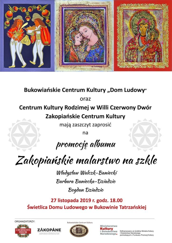 """Promocja albumu """"Zakopiańskie Malarstwo na Szkle"""" - plakat"""