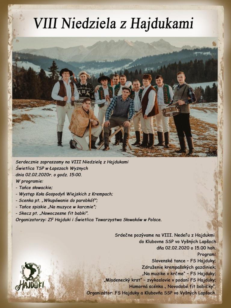 VIII Niedziela z Hajdukami - plakat