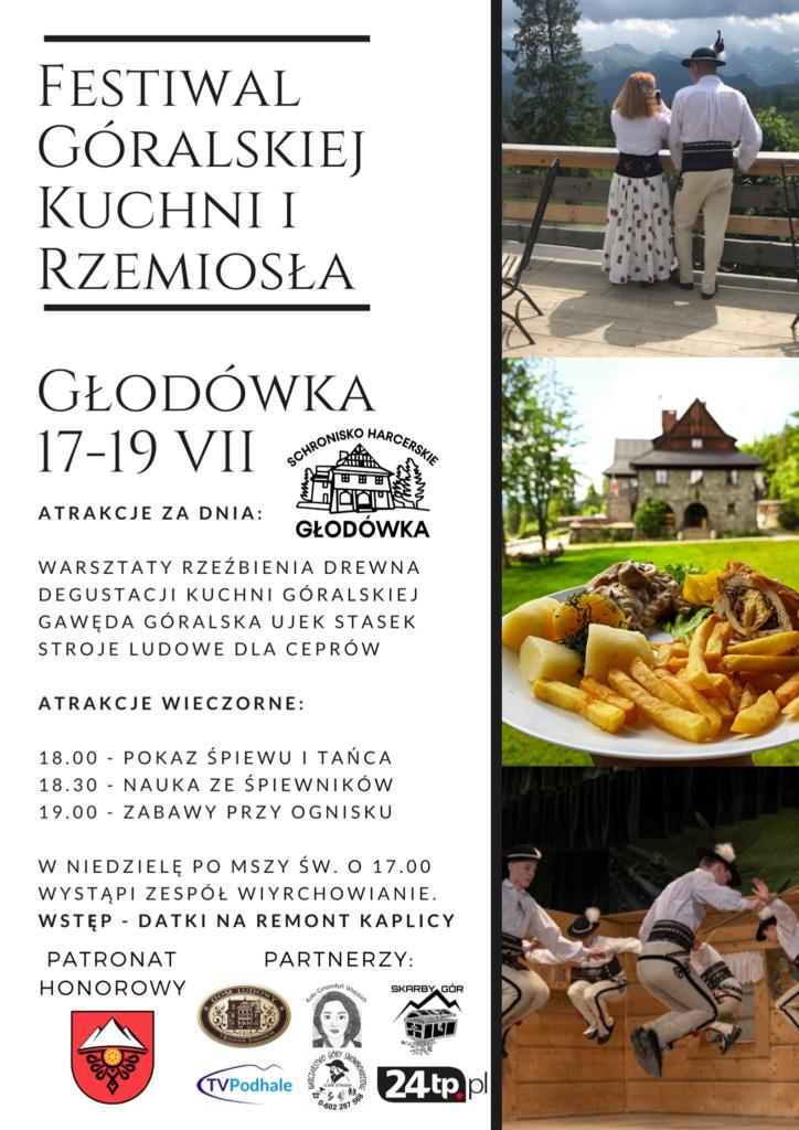 Schronisko Głodówka - festiwal góralski - plakat