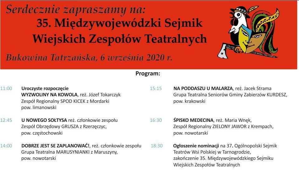 35. Międzywojewódzki Sejmik Wiejskich Zespołów Teatralnych