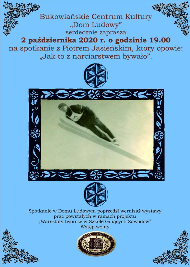 Piotr Jasieński - Jak to z narciarstwem bywało - plakat