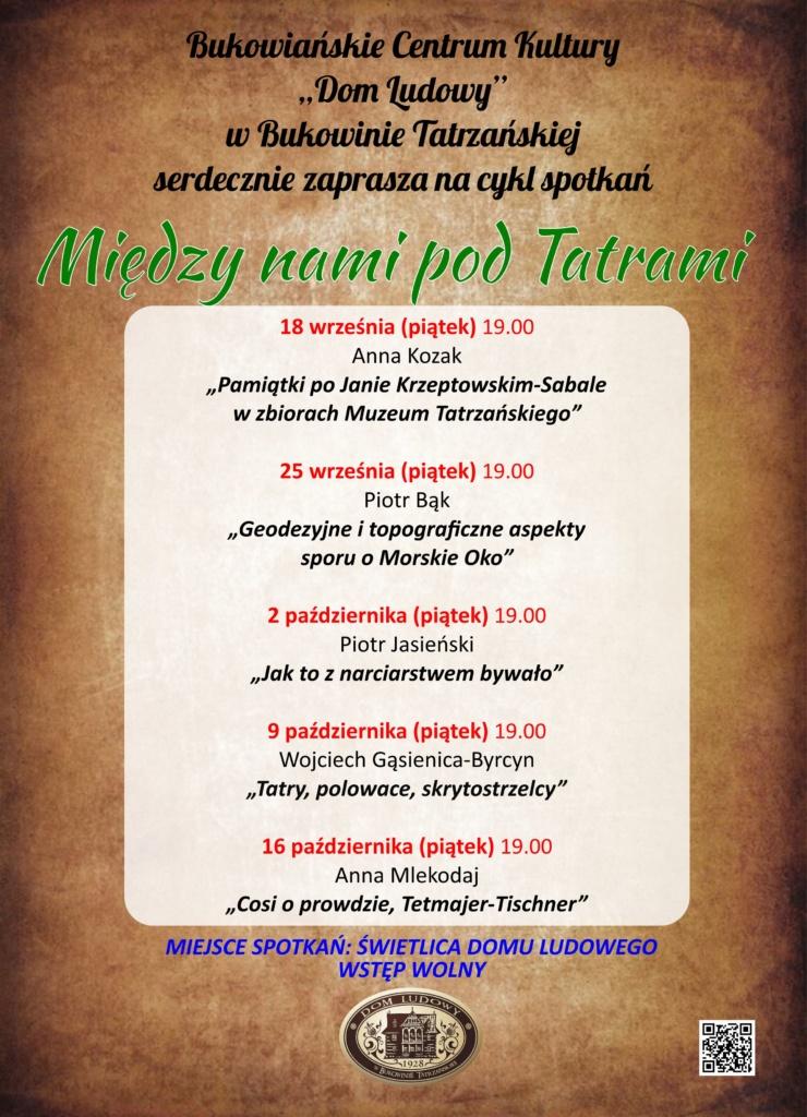Plakat Między nami pod Tatrami
