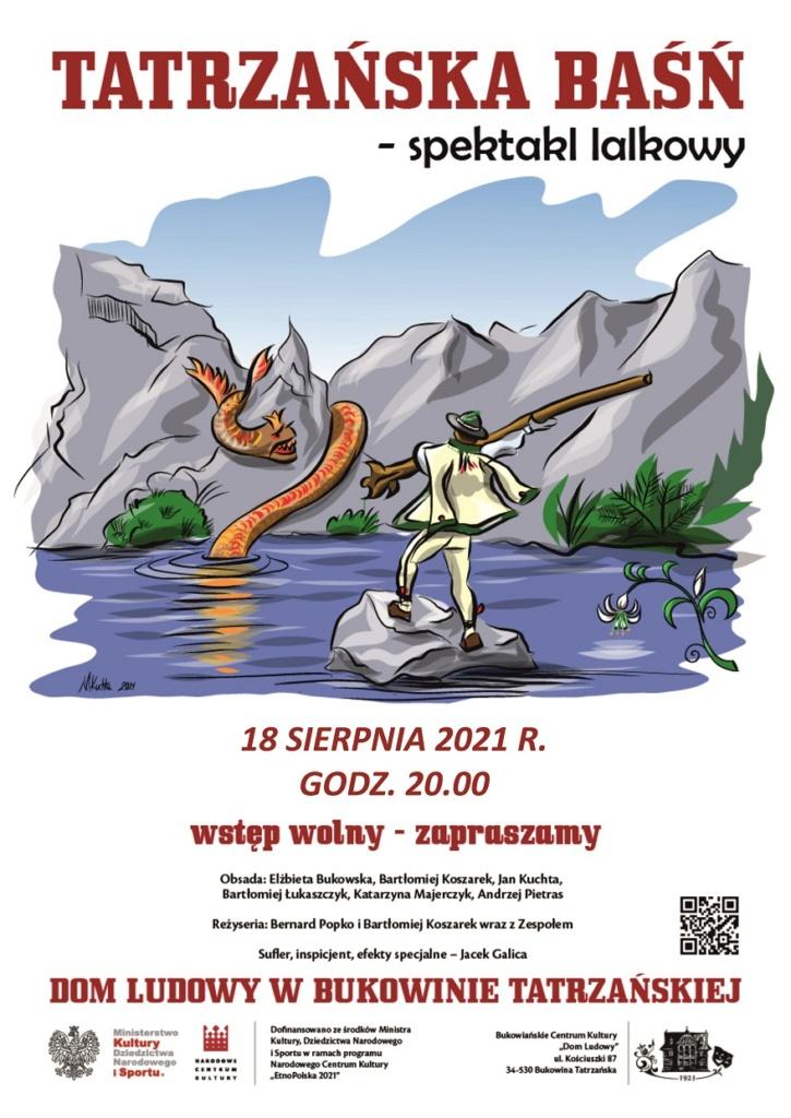 Tatrzańska Baśń - spektakl lalkowy - plakat 18.08.2021