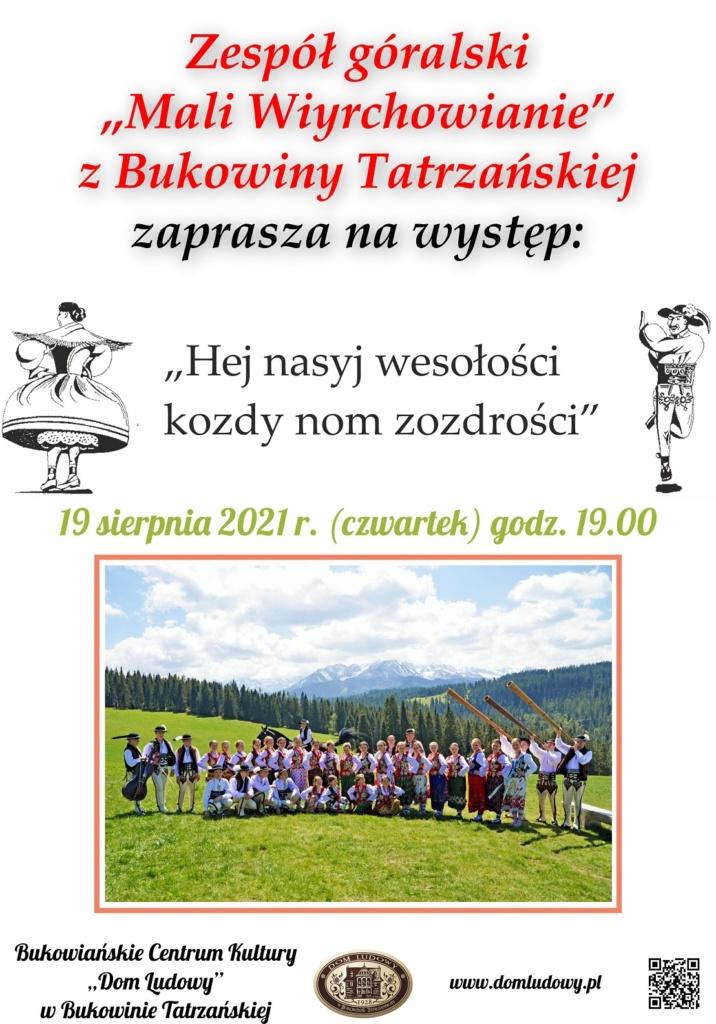 Występ Mali Wiyrchowianie - plakat